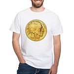Wy-Gold Indian/Buffalo White T-Shirt