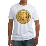 Wy-Gold Buffalo-Indian Fitted T-Shirt