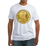 Wy-Gold Indian/Buffalo Fitted T-Shirt