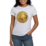 Wy-Gold Buffalo-Indian Women's T-Shirt