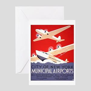 NYC Airports Greeting Card