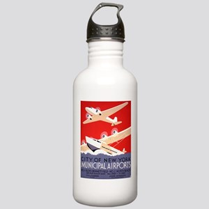 NYC Airports Stainless Water Bottle 1.0L