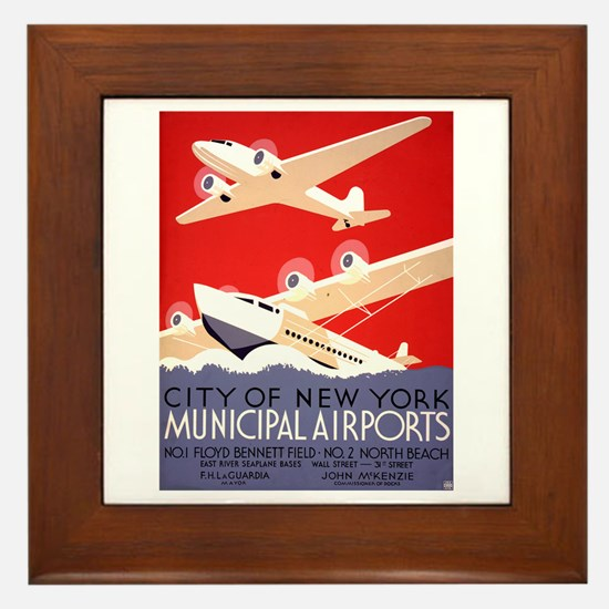 NYC Airports Framed Tile