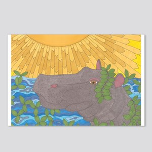 Hippo Happiness Postcards (Package of 8)