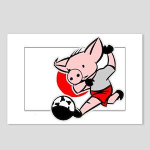 Japan Soccer Pigs Postcards (Package of 8)
