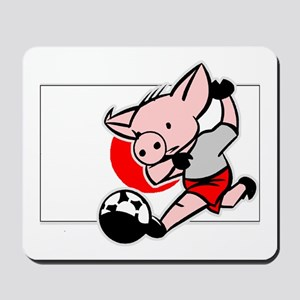 Japan Soccer Pigs Mousepad