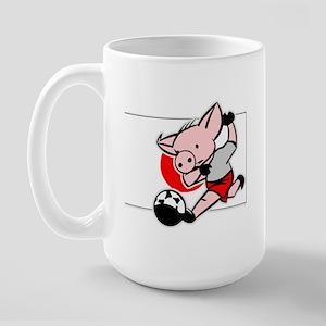 Japan Soccer Pigs Large Mug