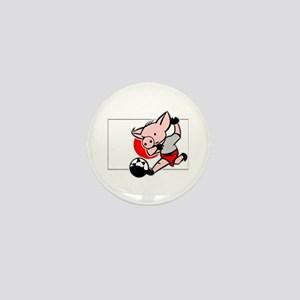 Japan Soccer Pigs Mini Button
