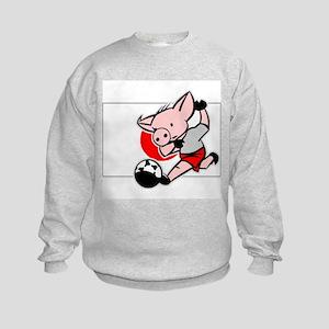Japan Soccer Pigs Kids Sweatshirt