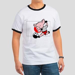 Japan Soccer Pigs Ringer T