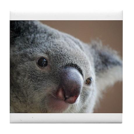 Koala Face 2 Tile Coaster