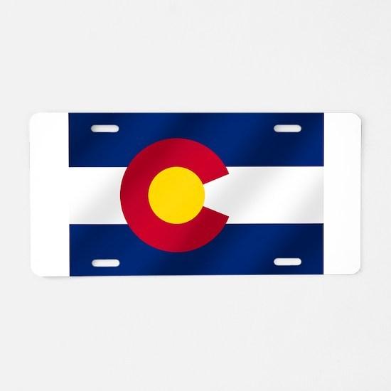 Flag of Colorado Aluminum License Plate