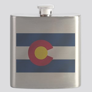 Flag of Colorado Flask