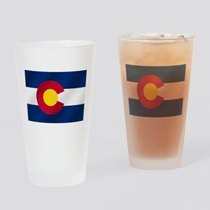 Flag of Colorado Drinking Glass
