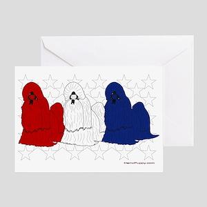 Patriotic Shih Tzu Greeting Card