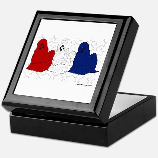 Patriotic Shih Tzu Keepsake Box