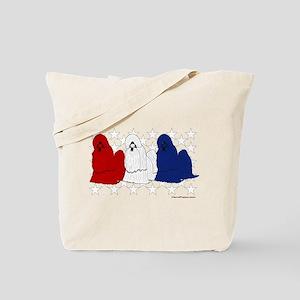 Patriotic Shih Tzu Tote Bag