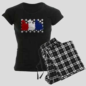 Patriotic Shih Tzu Women's Dark Pajamas
