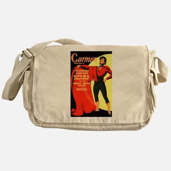 Carmen Opera Poster Messenger Bag