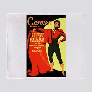Carmen Opera Poster Throw Blanket