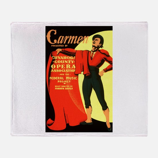 Carmen Opera Poster Throw Blanket