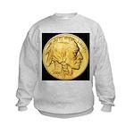 Black-Gold Indian Head Kids Sweatshirt