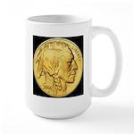 Black-Gold Indian Head RH Large Mug