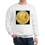 Black-Gold Indian Head Sweatshirt