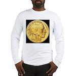 Black-Gold Indian Head Long Sleeve T-Shirt