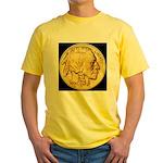 Black-Gold Indian Head Yellow T-Shirt
