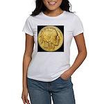 Black-Gold Indian Head Women's T-Shirt