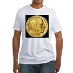 Black-Gold Indian Head Fitted T-Shirt