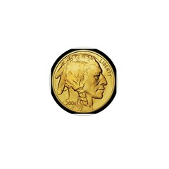 Black-Gold Indian Head Mini Button (10 pack)