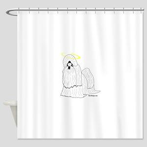 Shih Tzu with Halo Shower Curtain