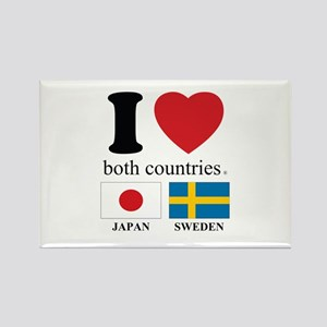 JAPAN-SWEDEN Rectangle Magnet