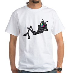 Bored Robot White T-Shirt