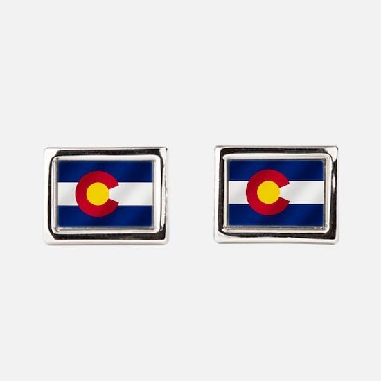 Flag Of Colorado Rectangular Cufflinks