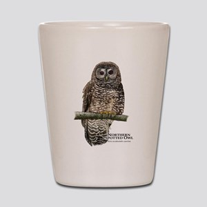 Northern Spotted Owl Shot Glass