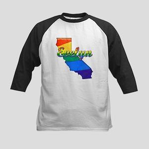 Evelyn, California. Gay Pride Kids Baseball Jersey
