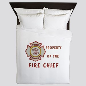 Fire Chief Property Queen Duvet