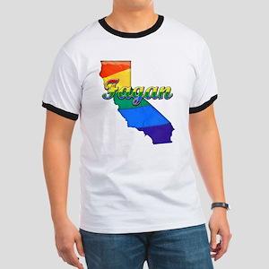 Fagan, California. Gay Pride Ringer T
