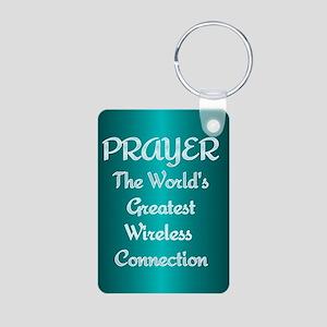 Prayer - World's Greatest Wir Aluminum Photo Keych