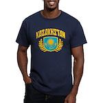 Kazakhstan Men's Fitted T-Shirt (dark)