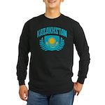 Kazakhstan Long Sleeve Dark T-Shirt