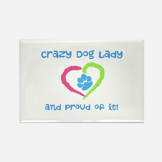 Crazy Dog Lady Rectangle Magnet