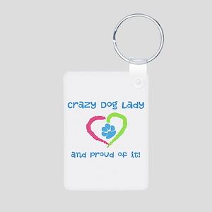 Crazy Dog Lady Aluminum Photo Keychain