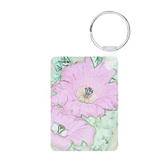 Pink Cactus Flowers Keychains