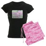 Pink Cactus Flowers Women's Dark Pajamas