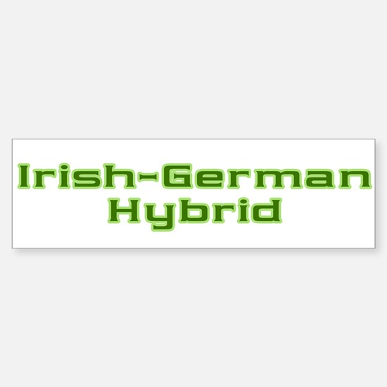 Irish German Hybrid Bumper Bumper Bumper Sticker
