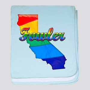 Fowler, California. Gay Pride baby blanket